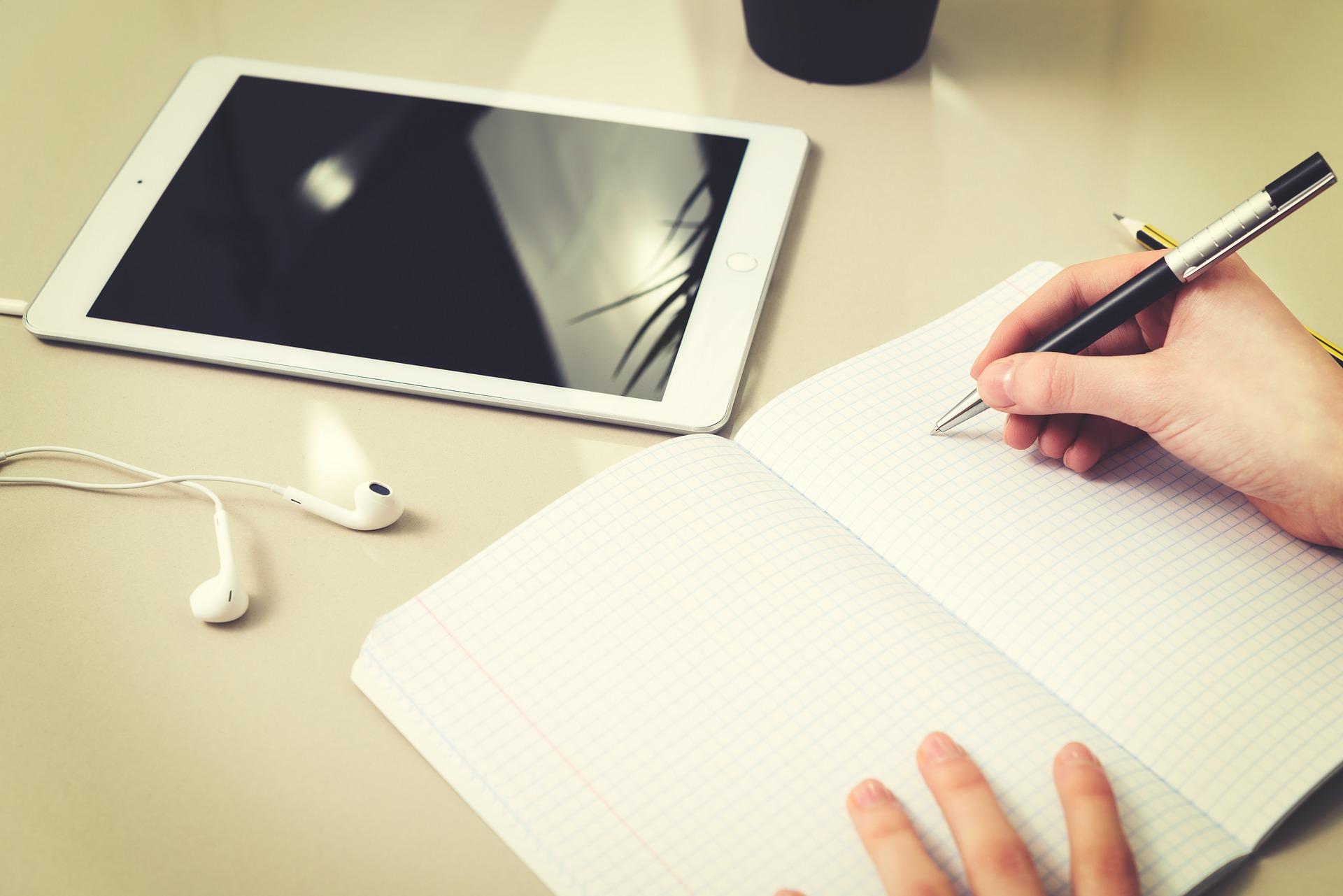 tablet quaderno